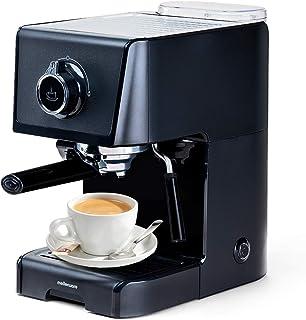 Cafetera express para espresso y capuccino KOFFY. 1200W 15 Bares. Vaporizador orientable. Capacidad 1,2L Café molido y mon...