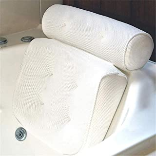 KUNXIAOY Non Slip Bath Pillow with 6 Suction Cups, Bathtub Spa Cushion for Neck, Shoulder and Head Support, Headrest, Fits Hot Tub, Home Spa