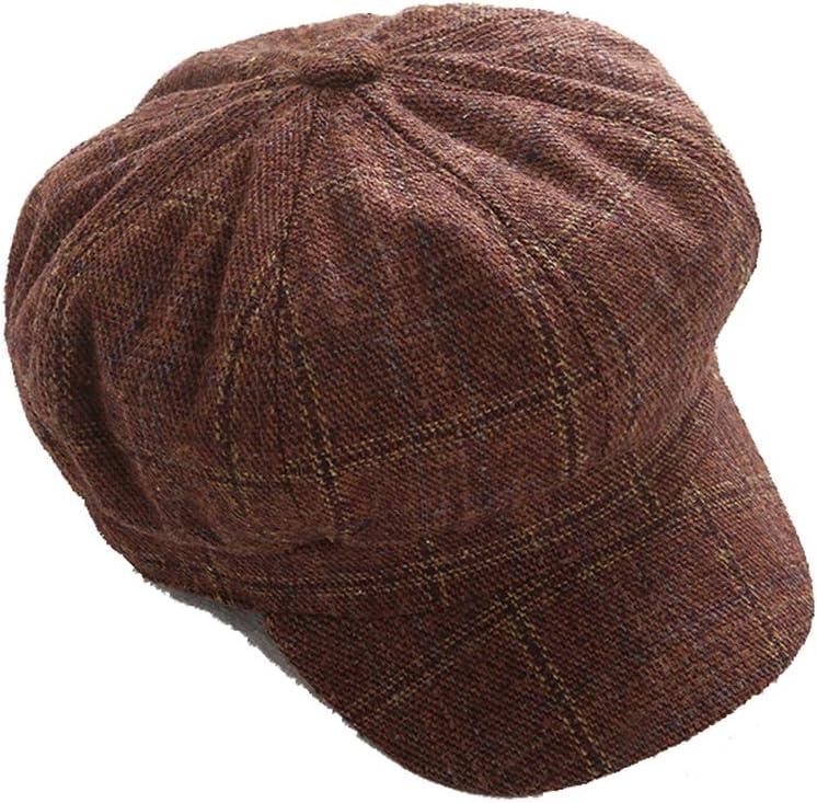 Hat Women's Beret Hat Woolen French Beret Winter Autumn Hat Ladies Accessories (Color : Caramel Colour, Size : M)