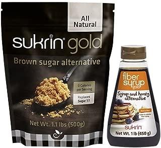 Sukrin Gold Bundle - Brown Sugar, Fiber Syrup Alternative Sweeteners