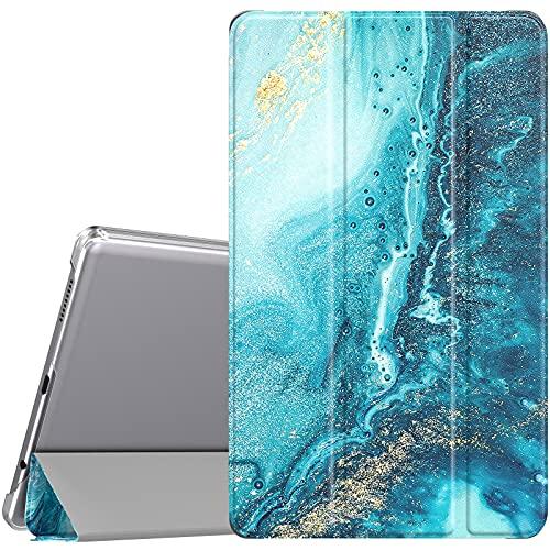 TiMOVO Funda para Galaxy Tab A7 Lite 8.7 2021(SM-T220 / T225), Cubierta Trasera Protectora Inteligente, Estuche Protector Plegable Agradable para la Piel, Dorado