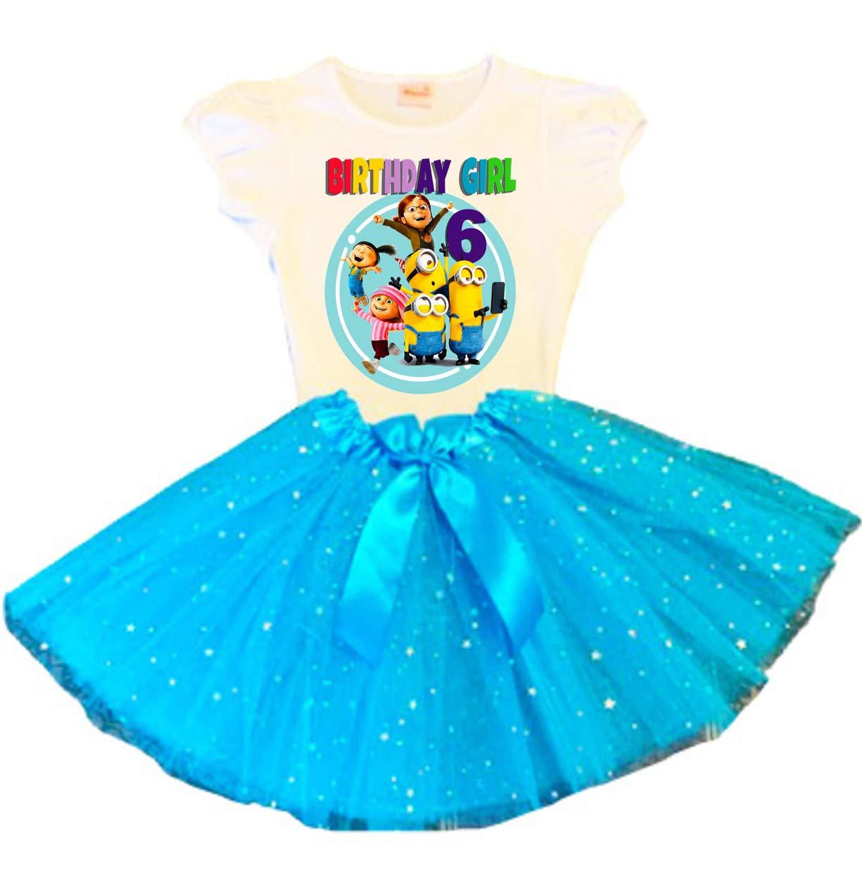 Minions Birthday Portland Mall Tutu 6th Ou Turquoise Dress Party Bargain