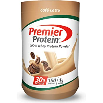 Premier Protein Whey Protein Powder, Cafe Latte, 17 Servings, 23.9 Ounce