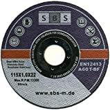 SBS–Schlößer Baustoffe–Disco di taglio, acciaio inox, 50pezzi, 115x 1m...