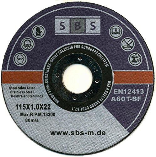 SBS Trennscheiben | 115 x 1,0mm | 50 Stück | INOX | Flexscheibe Profi Qulität