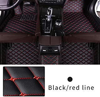 Car Floor Mat for Honda Accord Ⅸ 2014-2017 Heavy Duty XPE Leather Full coverage Interior Protection Floor Mat Black Red