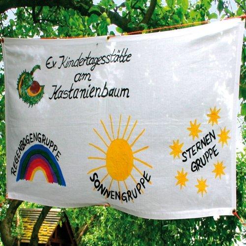 Banner 62 x 130 cm, aus Baumwolle zum Bemalen Selbstgestalten