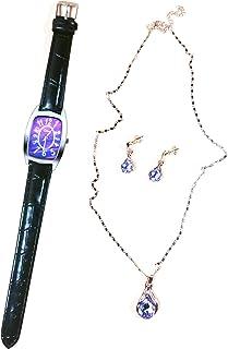 Women's Watch Necklace Earrings Gift Set of 4pcs Fashion Women's Watch Box Jewelry Gift Set for Women Girls