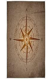 MNSRUU dise/ño de marinero Toalla de mano para ba/ño 76 x 38 cm