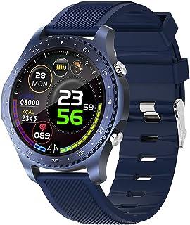 Montre Intelligente pour Hommes, Montre Intelligente étanche Bluetooth à écran Tactile avec Moniteur de Sommeil de fréquen...