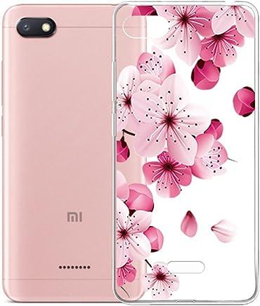 Transparente Vines Flores TPU Silicona Suave Cover Tapa Caso Parachoques Carcasa Cubierta para Xiaomi Redmi 6A IJIA Case Funda para Xiaomi Redmi 6A 5.45