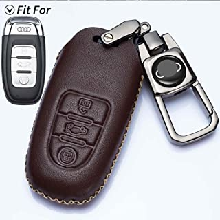 Romeo's Memory Leather Car Key Cover for Audi Audi A1 A3 A4 A5 A6 A7 A8 Q5 Q7 R8 S5 S7 Q5 RS