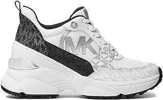Michael Kors Zapatillas Deportivas Mickey Trainer Combinadas Modelo 43S1MKFS3D Color Blanco/Negro (002 Black/White).