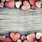 YANSHON 400 STK Holzscheiben Deko zum Basteln Holzscheiben Herz klein Holzherz Dekoration Streu Deko Tischdeko Verzierungen für DIY Handwerk Hochzeit Weihnachten Geburtstag Taufe Herzen - 7