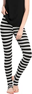Women's Leggings Stripes High Waist Elastic Waistband Stirrup Pants