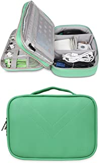 BUBM Portable Multi-Functional Digital Storage Bag Electronic Accessories Travel Organizer Bag Data Cable Organizer (Green)