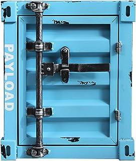 Side Table, Cabinet Container vent industriel, fer nordique multifonctionnel Table de chevet, Chambre et Salon Armoire de ...