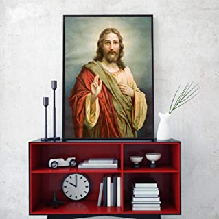 Modern Art Portrait Posters and Prints Wall Art Canvas Painting Jesus Christ Decorative Pictures for Living Room Decor No ...