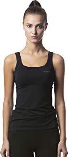 Women's Slim-Fit Athletic Camisole Scoop Neck Tight Undershirts Stretch Lycra Yoga Tanks