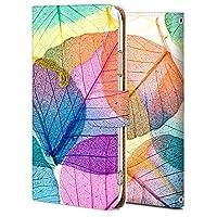 F-03K ケース 手帳型 らくらくスマートフォン me カバー おしゃれ かわいい 耐衝撃 花柄 人気 純正 全機種対応 透明な木の葉 PL_植物 シンプル 9007117