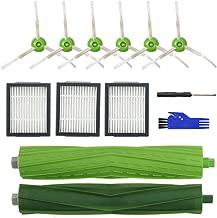 Replenishment Accessory Kit for iRobot Roomba i7 i7+/i7 Plus E5 E6 E7 Series Robotic Vacuum,3 High-Efficiency Filters+6 Edge-Sweeping Brushes+1 Multi-Surface Rubber Brushes