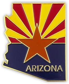 "PinMart State Shape of Arizona and Arizona Flag Lapel Pin 1-1/8"""