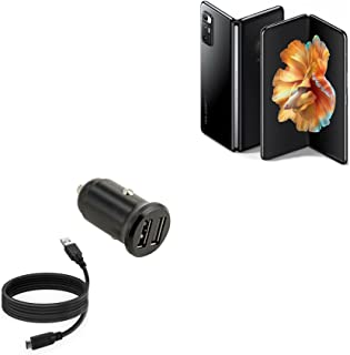 Carregador de carro BoxWave para Xiaomi Mi Mix Fold [Carregador de carro mínimo com cabo DirectSync] Carregador compacto p...