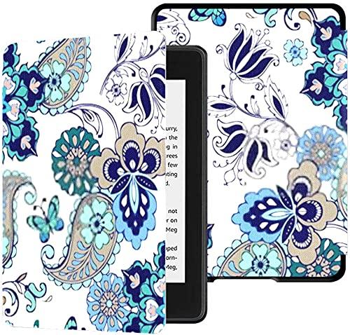 Caso di tutti-nuovo Kindle Paperwhite all acqua sicura rivestimento in tessuto (10 ° Generazione 2018 Release), Oriental Seamless paisley Motivo floreale Caso Tablet Wallpaper