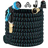 1. Gpeng Expandable Garden Hose 100ft Water Hose with 8 Function Spray Nozzle, Kink Free Flexible Hose with Solid Brass Fittings, Extra Strength Durable Lightweight Expanding Yard Hose Wash Hose Pipe