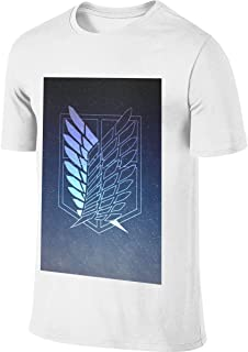 REVESS Mens Customized New Tees Attack On Titan Wings of Liberty Logo T Shirts