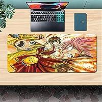 FAIRY TAIL拡張ゲーミングマウスマット/パッド-大型、ワイド(ロング)カスタムプロフェッショナルマウスパッド、ステッチエッジ、デスクカバー、コンピューターキーボード、PC、ラップトップに最適800x300x3mm-A_800X300X3MM