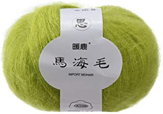 beaded mohair yarn