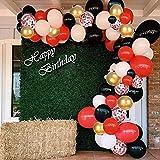 Juego de 125 globos de confeti dorados, y rojos, globos de confeti dorados, blancos, , rojos, para graduaciones, fiestas de Año Nuevo, bodas, cumpleaños, baby shower