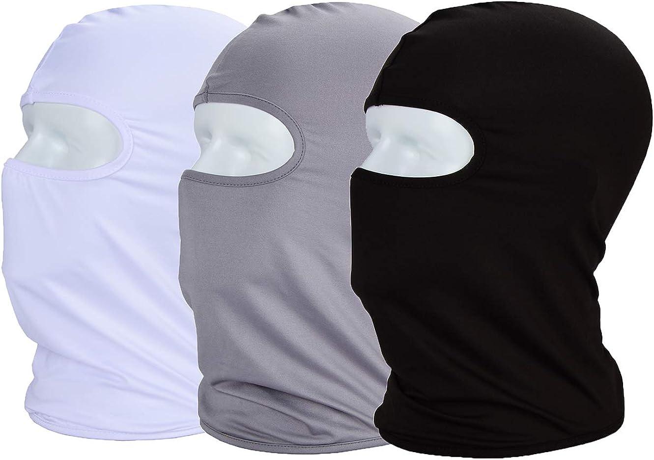 MAYOUTH Balaclava Sun/uv face mask UPF 50+ ski mask Neck Gaiter face Scarf Outdoor Sports 3pack