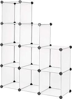 Dibea Armario de plástico Armario Modular Sistema de estantería Zapatero de plástico (9 Compartimentos)