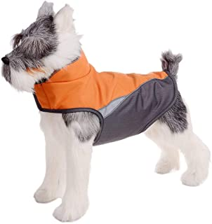 FOREYY Dog Jacket with Waterproof Outer Layer and Warm Fleece Inner Layer, Reflective Dog Pet Winter Coat Vest Apparel for Small Medium and Large Dogs …