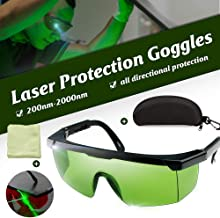 Honeytecs Laser Protection Goggles 200nm-2000nm Laser Safety Glasses OD4+ Stylish Protective Glasses