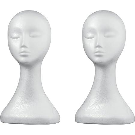 Schaufensterpuppe Kopf Lady hoch Kunststoff Kopf Perückenkopf Weiblich
