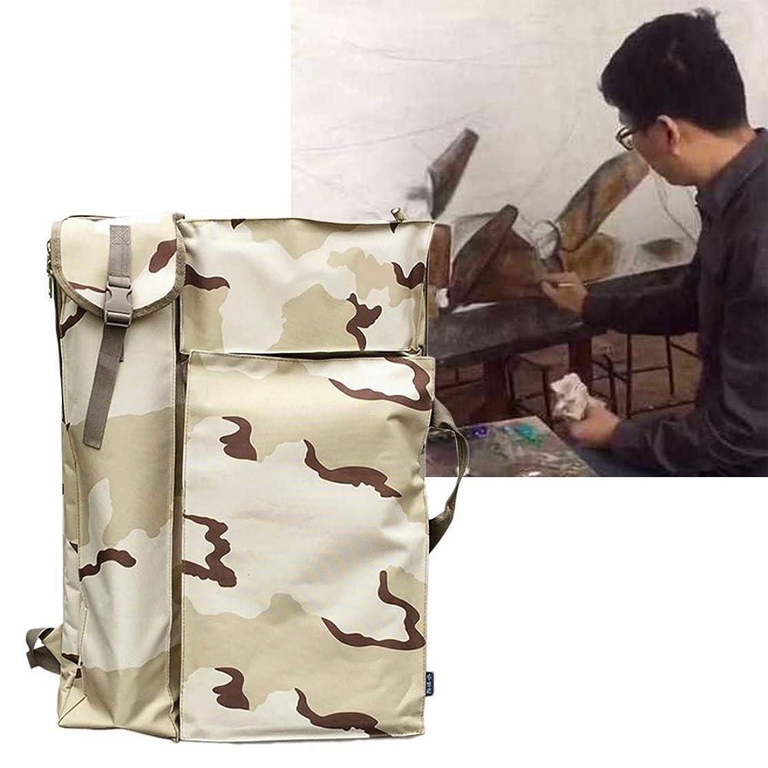 二度かび臭い銀ジッパーショルダーストラップ付きアートポートフォリオバッグケースバックパック製図板のショルダーバッグ SHANCL
