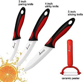 GZSC Cuchillo de Cocina de cerámica del Cuchillo de Cocina Set 3