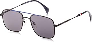 TOMMY HILFIGER Men's Sunglasses, Aviator, TH 1537/S - Black/Blue