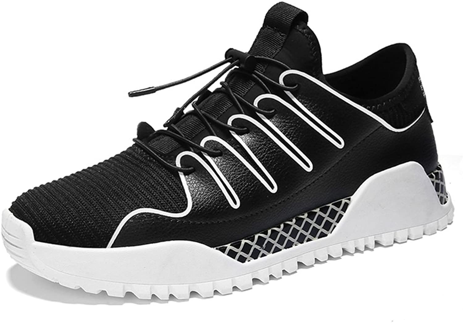 GLSHI Men's shoes Spring Fall Comfort Athletic shoes Tennis shoes Lace-up For Athletic Casual Black Red Black White