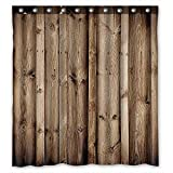 ZHANZZK Vintage Rustic Knotty Wood Waterproof Bathroom Shower Curtain 60x72 Inches