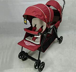 Twin Stroller T2 red