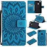 Guran® PU Leder Tasche Etui für Xiaomi Redmi Note 5A Smartphone Flip Cover Stand Hülle & Karte Slot Hülle-blau