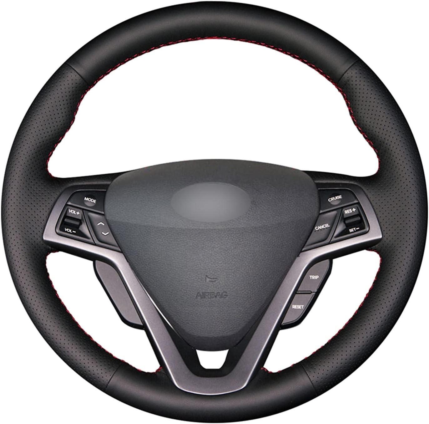 LSHDAT Black PU Leather Car Steering Wheel New popularity for Hyundai Vel Save money Cover