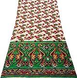 PEEGLI Indisch Frau Vintage Stoff Sahne Ethnisch Kleid Die