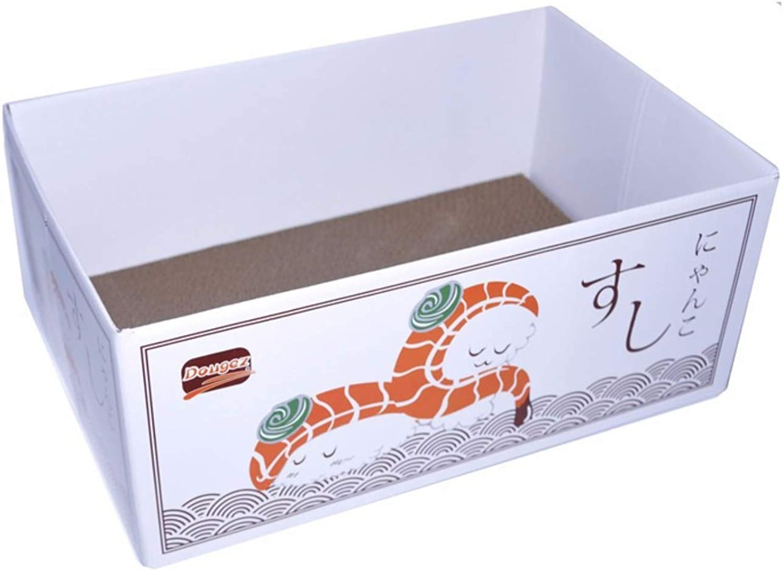 Dougez Japanese Style cat Bed Box (Salmon Sushi)