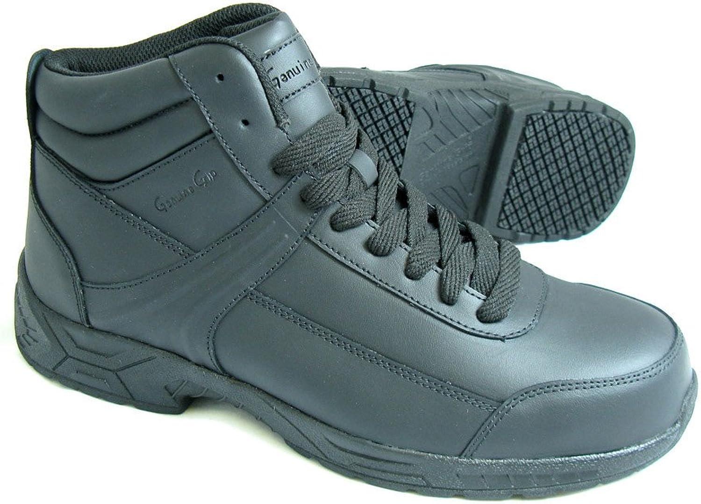 Genuine Grip Unisex Athletic Steel Toe Boot Black