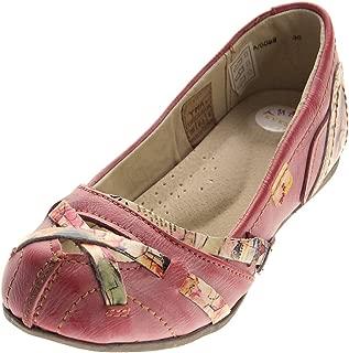 Tma Cuir Ballerines pour Femmes Véritable Confort Chaussures 5088 Mocassins